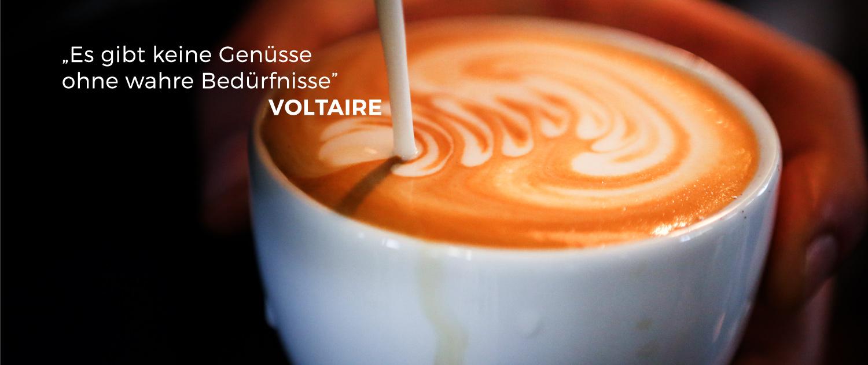 Zitat Voltaire - Latte Art
