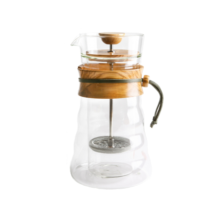 Hario Double Wall French Press Olive Wood
