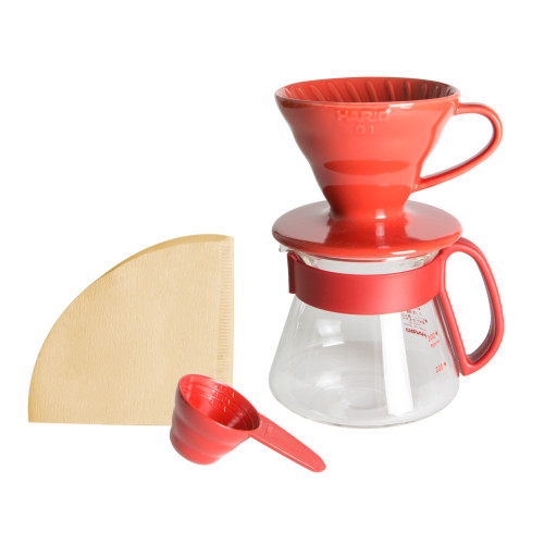 Hario V60 Color Dripper & Pot Red