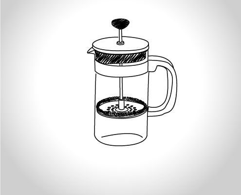 French Press Illustration