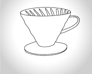 Hario V60 Dripper Illustration