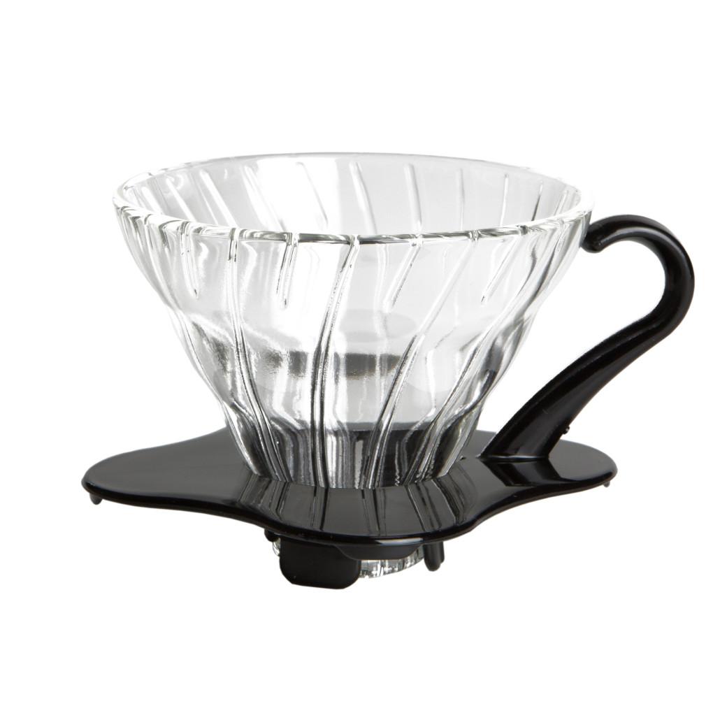 Hario V60 01 Glass Dripper, schwarz