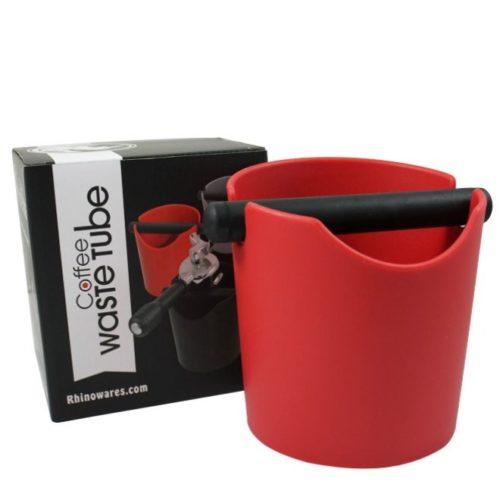 Rhinowares Coffee Waste Tube Abschlagbehälter rot