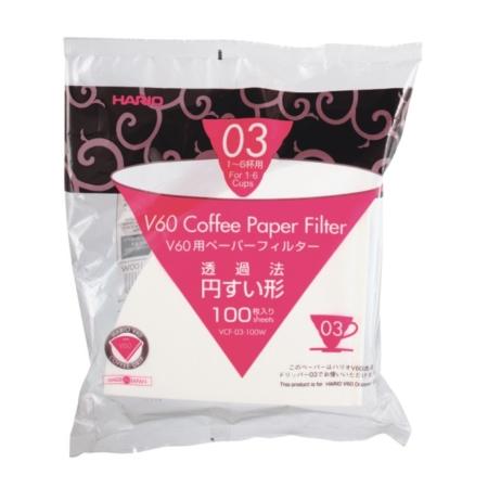 Hario V60 03 Papierfilter VCF-03-100W
