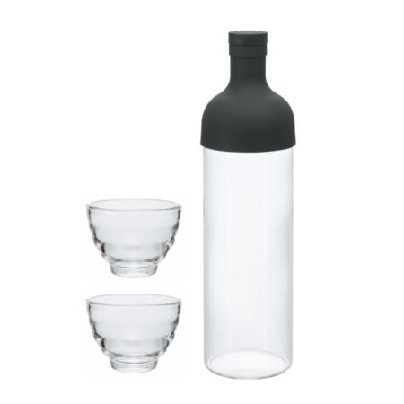 Hario Filter in Bottle Set mit Teegläsern FIHU-2012-B-EX