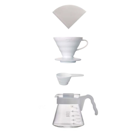 Hario V60 Coffee Brewing Kit VCSD-02W-EX